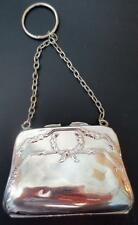 Antique Edwardian Handbag Shape Purse Bag Silver Plated EPNS