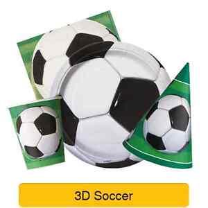 3D SOCCER Birthday Party Range - Football Tableware Supplies & Decorations (UQ)