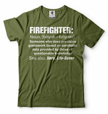 Firefighter T-shirt Firefighter definition Noun Tee Shirt Gift for Fireman Dad