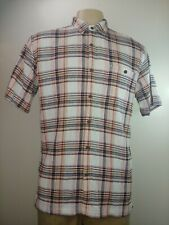 Patagonia Mens Large Button Front Shirt 100% Organic Cotton Crinkle Short Sleeve