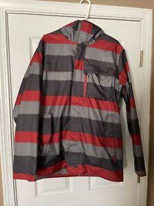 Burton Snowboard Jacket Red Grey / Gray Mens M