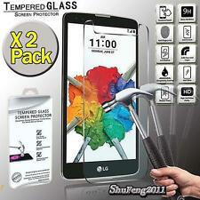 2 Pack Tempered Glass Screen Protector Cover For LG Stylus 2 Plus