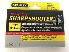 """Stanley Sharpshooter TRA708 1/2"""" (12.7mm) Standard Heavy Duty Staples 1000 Pack"""