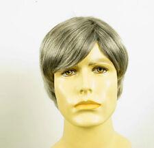 Perruque homme 100% cheveux naturel gris poivre et sel VICTOR 44