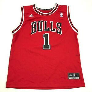 Adidas Derrick Rose Chicago Bulls Basketball Jersey Youth Size Large YL