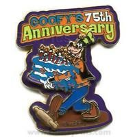 Disney Pin 54771 WDW Goofy's 75th Anniversary Large Cake Pin-on-Pin LE 1500