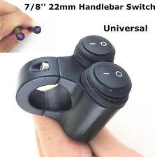 Dual 22mm 7/8in Handle Bar Rocker Switch On/Off High Low Light Switch Waterproof