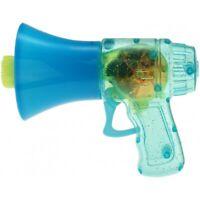 """Seifenblasenpistole """"Megaphon"""" mit LED-Licht inkl. Seifenblasenflüssigkeit blau"""