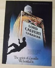 1979 Vintage AD LORD CALVERT CANADIAN SPIRIT OF CANADA