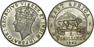 East Africa: Shilling silver 1946 SA - XF