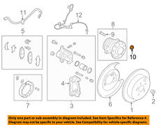 TOYOTA OEM Brake-Rear-Axle Nut SU00302864
