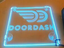 New DoorDash sign Acrylic Car Van Truck Engraving Light LED Inside Free Shipping