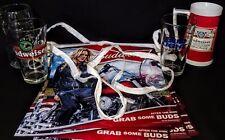 Budweiser Glasses Bar Decor Banner Bud Lite Becks
