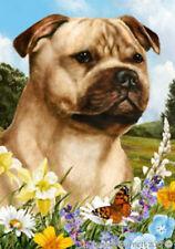 Summer House Flag - Fawn Staffordshire Bull Terrier 18245