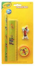 CRAYOLA Kids School Stationery Set Pencil Case Fillers 4 Item Essential Kit
