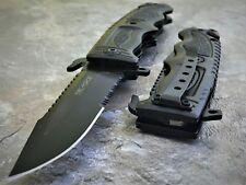 """8.5"""" TAC FORCE SPRING ASSISTED TACTICAL FOLDING KNIFE GLASS BREAKER Blade Pocket"""