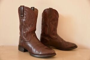 Ariat Men's cowboy boots, Western heritage R toe, burgundy leather, US 9.5