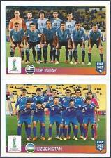 PANINI-2016 FIFA 365- #045-046-U20 WORLD CUP-URUGUAY-UZBEKISTAN TEAM PHOTOS