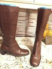 Women's Valerie Stevens Brown Leather Boot 8.5 Shoe $12 US Party ship