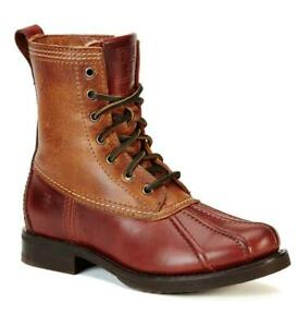 $398 - FRYE Veronica Duck Cinnamon Leather/Shearling Boot Size 7