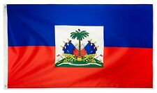 Haiti Flag 3x5 Foot Polyester Haitian National Flags Polyester with Brass Gromme