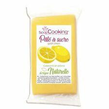 Pâte à sucre jaune 250 g sans gluten - arôme citron
