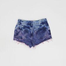 Miss Selfridge Size 8 Blue Denim Hot Pants Shorts