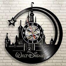 Disney World Parks Cinderella's Castle Monorail Vinyl Record Wall Clock
