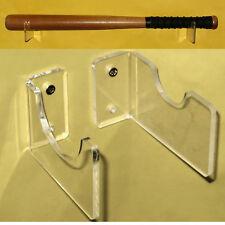 1 Set of New Horizontal Baseball Bat Wall Mount Acrylic Holder / Clear Bracket