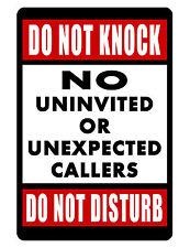 DO NOT KNOCK/DISTURB SIGN DURABLE ALUMINUM NO RUST FULL COLOR CUSTOM SIGN
