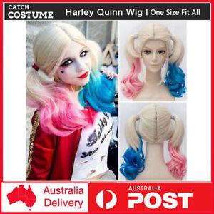 Batman Joker Suicide Squad Harley Quinn Cosplay Wig Women Halloween Party Hair