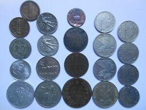 RP01204 Lot Münzen Italien 180? - 1967, 21 Stück