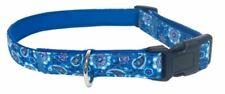 "NWT Executive Pup Adjustable Dog Collar, L/M (Fits Neck: 15""-21""), Blue Badana"