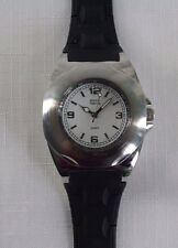 Men's Bijoux Terner Quartz Watch Black Polyurethane band White Face Analog