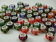 50pcs mix DIY bead lampwork fit European Charm Bracelet Wholesale beads #5