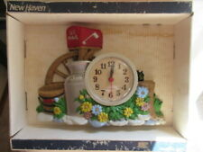 AWESOME  MIB VINTAGE NEW HAVEN USA Colorful US MAIL WALL CLOCK