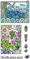 Life Flowers Clear Color Me Coloring Acrylic Hampton Art Stamp Set SC0719 NEW!