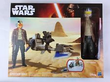 Star Wars The Force Awakens 30cm Speeder Bike Moto Jet Poe Dameron Figure Disney