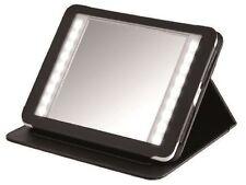 NICOL Reisespiegel mit Cover im Tabletdesign LED-beleuchtet 3-fach und 1-fach