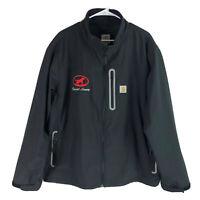 Carhartt Soft Shell Jacket Mens XXL 2XL Black Full Zip Polyester Casual Outdoor