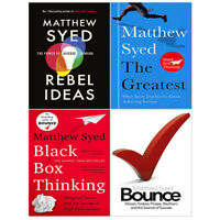 Matthew Syed Collection 4 Books Set Rebel Ideas, Black Box Thinking, Greatest