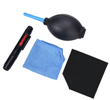 4pc Lens Cleaning Dust Pen Blower Microfiber Cloth Kit for DSLR Camera Acce