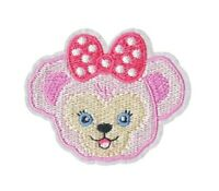 "Teddy Bear Patch Pink Embroidered Iron On Applique 2.72""X 2.32"" Baby Shower Girl"