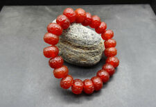 Red agate abacus beads with Moire Beads Bracelet