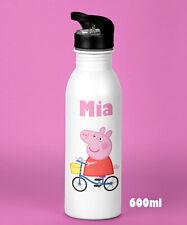 Kids Girls Personalised Peppa Pig Water Drink Bottle  Birthday Christmas Present