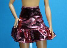 Barbie Pink Passport Metallic Pink Ruffle Skirt REGULAR PETITE Model Muse
