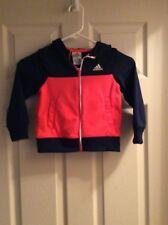 Adidas ClimaWarm Full Zip Fleece Orange Hoodie Jacket Size Youth 3T
