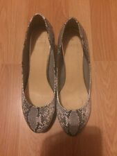 Oasis Snakeskin High Heels Size 39 / 6 Perfect Condition