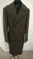 WW2 Military Marine Long Wool  Overcoat  Trench Coat Vintage Collectible 1940's