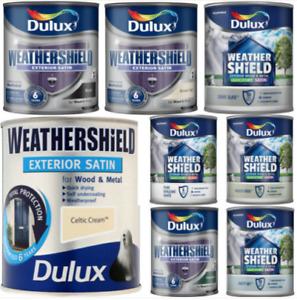 Dulux Weathershield High Gloss/Satin 750ml **VARIOUS COLOURS**
